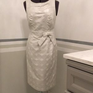 Etcetera Dress iridescent white with silver rings